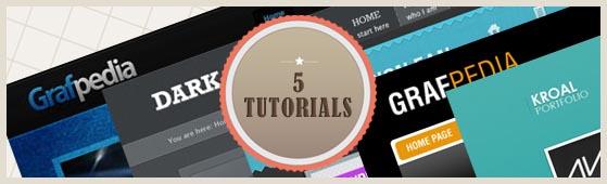 5 Tutorials – How To Design The Portfolio Template