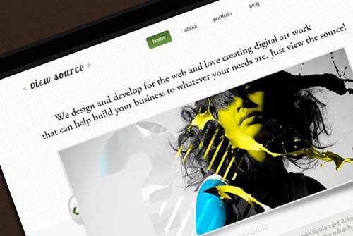 Design a modern site layout in Photoshop