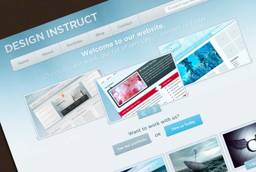 Create a Bright and Sleek Web Design in Photoshop