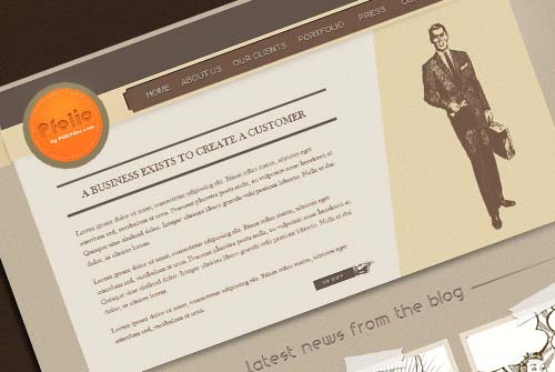 How to create a vintage website layout