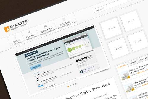 Myriad Pro: Create a Minimal WordPress Theme in Photoshop