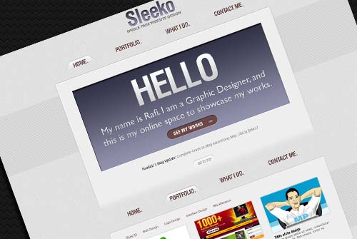 Sleeko Single Page Website Design