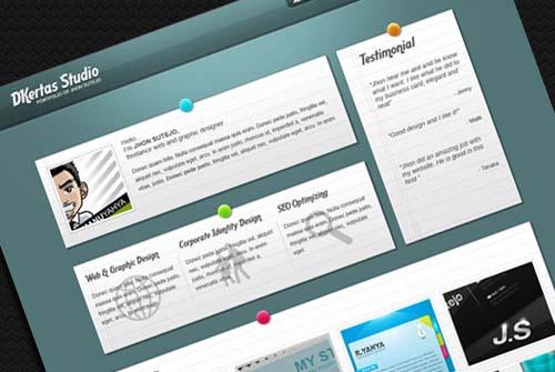 DKertas a Single Page Portfolio Template
