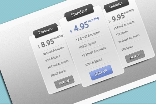 Slick Price Table UI