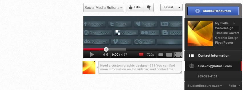 Youtube Styled Facebook Timeline Cover