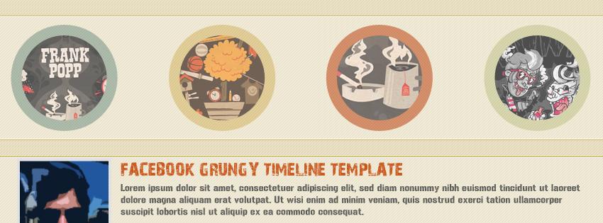 GRUNGE FACEBOOK TIMELINE TEMPLATE