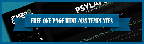 13 Free One Page Html/CSS Templates