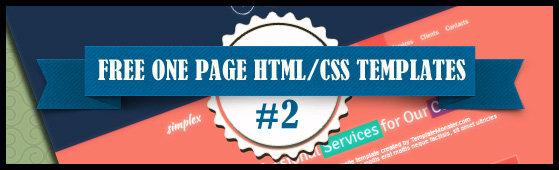 13+ Free One Page HTML/CSS Templates Part2