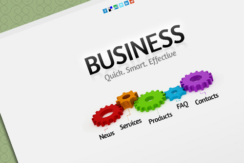 BusinessProject Html5 Theme - Free One Page HTML Template