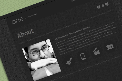 One Page Web Resume - Free One Page HTML Template