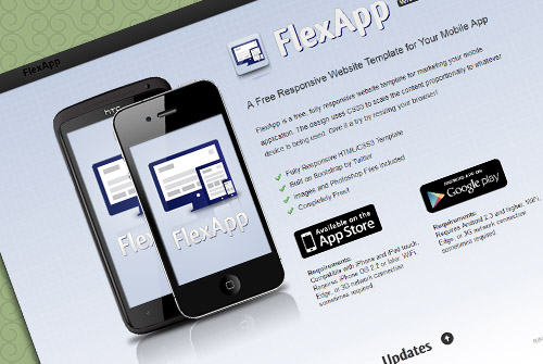 FlexApp - Free One Page HTML Template