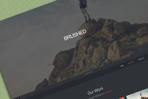Brushed Template - Free One Page HTML Template