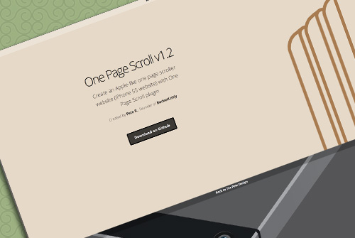 One Page Scroll v1.2 - Free One Page HTML Template