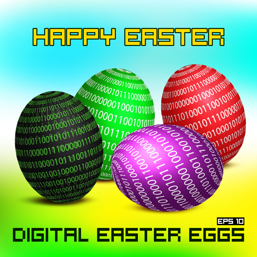 Free Vector Easter Eggs Illustration Background